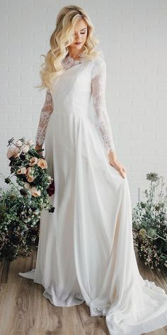 Lace Wedding Dresses That You Will Absolutely Love ❤ See more: http://www.weddingforward.com/lace-wedding-dresses/ #weddings #modestweddingdresses