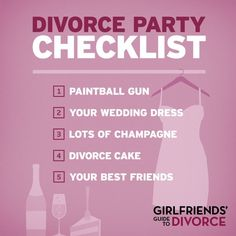 Love this show, Girlfriends' Guide To Divorce on Bravo, season one finale was Feb 24 Breakup Party, Divorce Party, Waitress Humor, Girlfriends Guide To Divorce, Freedom Party, Relationships Are Hard, Party Checklist, Healing A Broken Heart, Divorce Papers