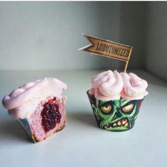 La ricetta degli zombie cupcakes, con wrappers gratuiti