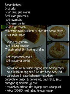 Resepi asas untuk Kek asam manis Kek alunan kasih Kek cappucino
