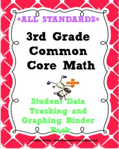 3rd Grade Common Core Math-Student Data Tracking Binder Pack. I can statement checklists, graphs for assessments, formative assessment rubrics and posters too!!! Top Seller* See my blog at: www.youngteacherlove.blogspot.com to see how to set the binders up!!