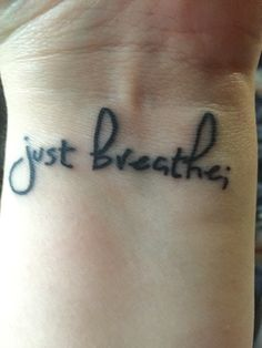 Just breathe; tattoo for the semicolon project