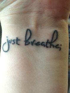 Just breathe; tattoo for the semicolon project Body Art Tattoos, New Tattoos, Cool Tattoos, Tatoos, Random Tattoos, Faith Tattoos, Awesome Tattoos, Tattoo Designs Wrist, Small Wrist Tattoos