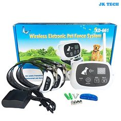 JK TECH Rechargeable Wireless Wifi Dog Fence Containment Sytem No Wire Bury Pet Fence with Waterproof Training Collar for Small Medium Large Dogs For 2 Dogs >>> Check out the image by visiting the link.Note:It is affiliate link to Amazon.