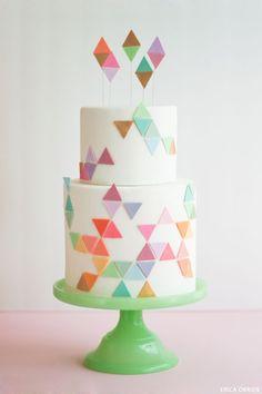 cream and sugar patterns, geometric cake, cake geometric, geometr pattern, geometr cake, cake party, cake designs, fondant cakes, birthday cakes