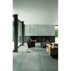 keramische vloertegel, imitatie beton, grijs, gerectificeerd, Kronos Prima Materia, impermo, 60x120