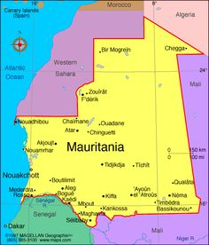 Mauritania Atlas: Maps and Online Resources | Infoplease.com