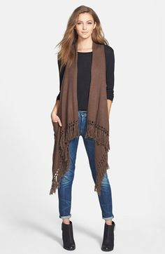 Phase 3 Fringed Vest available at #Nordstrom$68