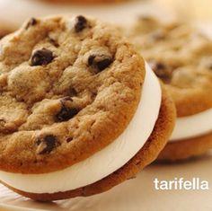 damla çikolatalı marshmellowlu kurabiye