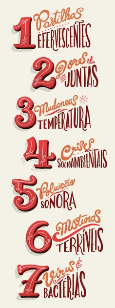 Seven things that threaten your heart... by Sérgio Bergocce, via Behance