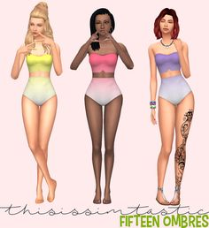 "thisissimtastic: "" Hey my loves, so.. my first ever recolor was this amazing bathing suit by @strange-girl-sims and well, it came out okay, but it was literally the first thing I ever did - so I revisited it and kept some of my favorite patterns and..."