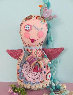 colorful angel with bird -- manifattive