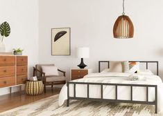 7 Mid-Century Modern Bedroom Ideas to Try in Your Space 7 moderne Schlafzimmerideen der Jahrhundertm Modern Bedroom Decor, Bedroom Vintage, Bedroom Furniture, Modern Furniture, Bedroom Ideas, Furniture Design, Contemporary Bedroom, Furniture Sets, Kitchen Furniture
