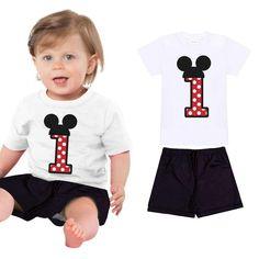 2pcs Toddler Kids Baby Girls Outfits Tops+Short Pants Clothes Set minnie birthda  | eBay