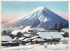 hanga gallery . . . torii gallery: Mt. Fuji from Yoshida by Kawase Hasui