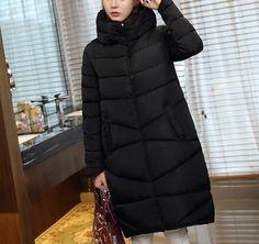 Womens Thick Cotton Padded Turtleneck Zipper Coat