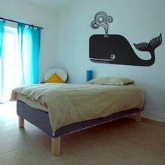 whale vinyl wall decal sticker art nautical wall art by beepart