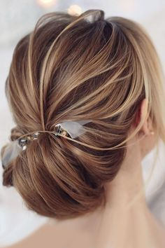 30 Bright Ideas For Fall Wedding Hairstyles ❤ fall wedding hairstyles low updo with accessory tonyastylist ❤ See more: http://www.weddingforward.com/fall-wedding-hairstyles/ #wedding #bride #weddinghairstyles #fallhairstyles