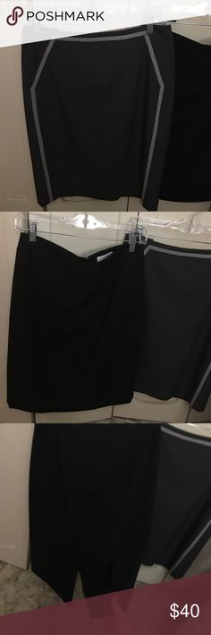 Two Calvin Klein work skirts Grey one is brand new. Black one worn a couple times. Calvin Klein Skirts