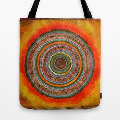 Tree rings tote bag by Asja Boros. Tree Rings, Canvas Handbags, Hand Bags, Mantra, Reusable Tote Bags, Sewing, Lady, Crochet, Scrappy Quilts