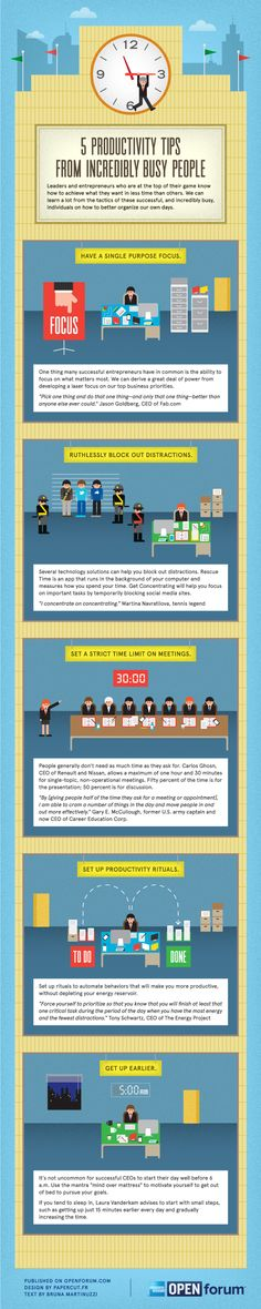 5 Productivity Tips From Incredibly Busy People [Infographic]