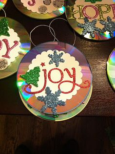 Ornaments made out of CD's!
