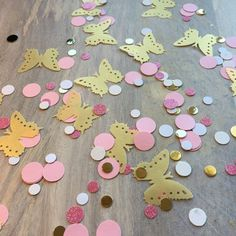 Pink and Gold Butterfly Princess Confetti by PicktheCake on Etsy