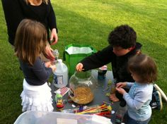 "Make Your Own Recycled Rattle -  a ""green"" craft activity for outdoor gatherings such as community days, Earth Day, homeschool events, etc."