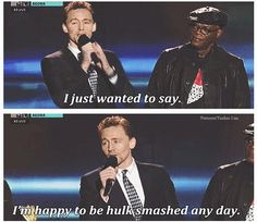 Tom Hiddleston @ MTV Movie Awards at Sony Pictures Studios on April 14, 2013