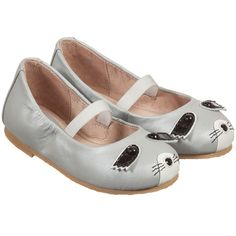 Bloch Girls Grey Leather 'Raton' Shoes at Childrensalon.com