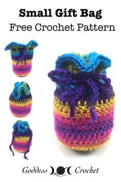 Small Gift Bag - Free Crochet Pattern