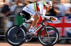 Fabian Cancellara, one of the elder statesmen of the Peloton these days... and twice former World Time Trial Champion