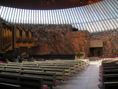 Timo and Tuomo Suomalainen, Temppeliaukio Church  This was a church where my husband's brother got married some years ago.