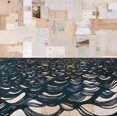 "Saatchi Art Artist David Cass; Collage, ""Gathered Seconds II"" #art"