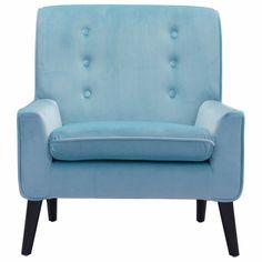 Coney Arm Chair (Aqua Velvet)