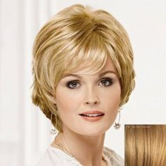 Curly Ladylike Fluffy Side Bang Short Human Hair Wig For Women
