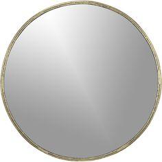 tork brass dripping mirror @ $229.00  | CB2 for entrance