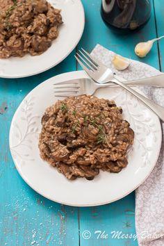 Mushroom Risotto ~ #SundaySupper » The Messy Baker Blog