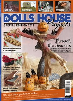 Dolls House and Miniature Scene Magazine - Sept 2014 Cover by Pixie Dust Miniatures Fete Halloween, Spooky Halloween, Halloween Stuff, Halloween Miniatures, Dollhouse Miniatures, Dollhouse Ideas, Minis, Summer Picnic, Miniture Things