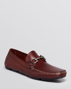 Salvatore Ferragamo Parigi Leather Driving Loafers