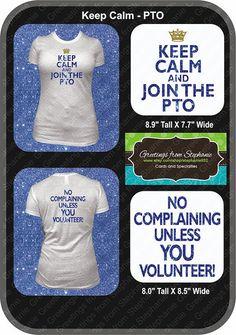 REDUCED Keep Calm & Join the PTO Glitter Vinyl T-shirt