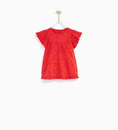 ZARA - KIDS - EMBROIDERED DRESS WITH FRILL