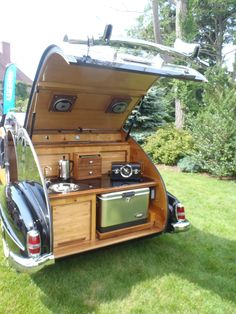 1959 Mercedes Benz 190 SL with Teardrop Camper      All the comforts of home, because it is home.