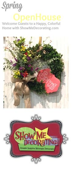 Spring Decorating Ideas from Show Me Decorating- Wreaths, Door Decor, Ribbon, and more!
