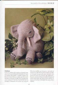 explications éléphant Softies, Wordpress Theme, Dinosaur Stuffed Animal, Elephant, Teddy Bear, Dolls, Knitting, Fabric, Blog