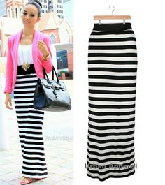 Business Casual Stripe Skirt fa9e9ac3c23