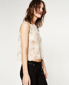 Image 5 of LACE TOP from Zara