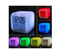 Colour Changing LED Digital Alarm! ITS THAT TIME ! MY OLDEST GRANDSON WANTS AN ALARM CLOCK . HERE IT IS AND MINE HAS WORKED 2 YRS SO FAR . LOVE THE COLORS ..gg