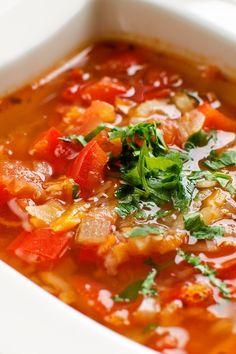 #Weight_Watchers Healthy Tortilla Soup #Recipe - 0 Weight Watchers Points!