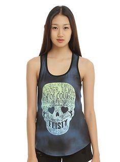 82f7d1c6a63781 Disney Peter Pan Neverland Skull Girls Tank Top